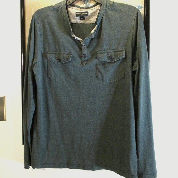 Blue Banana Republic Long Sleeve Shirt